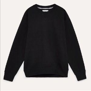 Aritzia TNA crewneck black sweater